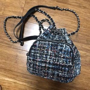 Cute Zara mini backpack with chain coco style